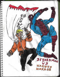 Spiderman Vs Naruto Hokage by thorman