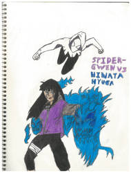 Spider-gwen Vs Hinata Hyuga by thorman