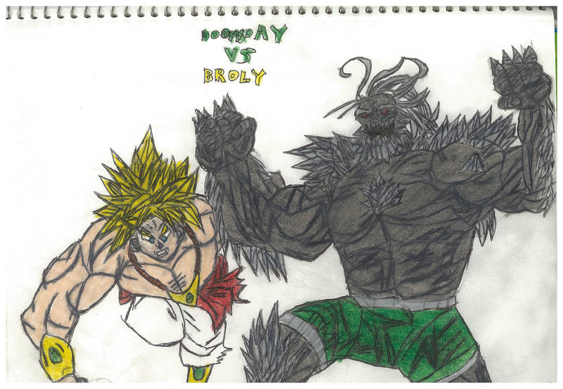 Doomsday Vs Broly by thorman