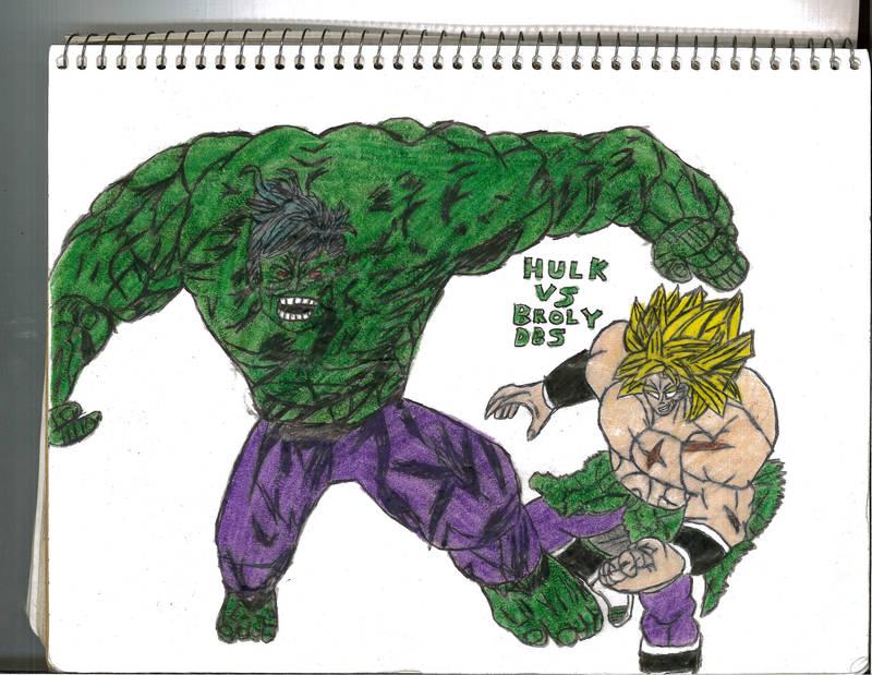 Hulk Vs Broly Dbs by thorman
