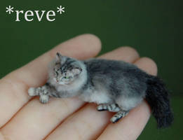 Miniature Cat Sculpture by ReveMiniatures