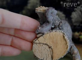 Miniature Squirrel Handmade Sculpture by ReveMiniatures