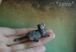 Handmade Miniature Ferret  [Photo No 2] by ReveMiniatures