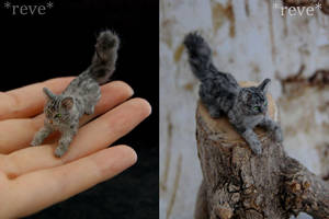 Miniature Cat * Handmade Sculpture * by ReveMiniatures