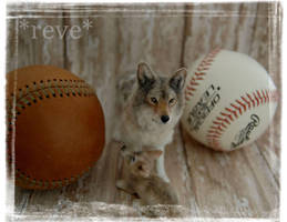 Wolf and pup (Handmade Sculpt) Happy Fathers Day by ReveMiniatures