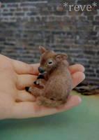 Miniature Brown Calf * Handmade Sculpture * by ReveMiniatures