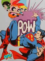 Powerpuff Girls Vs. Superman by PAPA-PopArt
