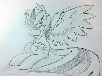 Request: Twilight hugs a book too hard by kittyhawk-contrail