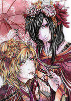 Asagi and Ruiza colo by QuistisNoir