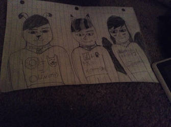 Ethan, sharpclaw and Christina. by huggles111702