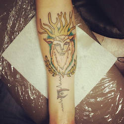 Forest God tattoo by Izzilar