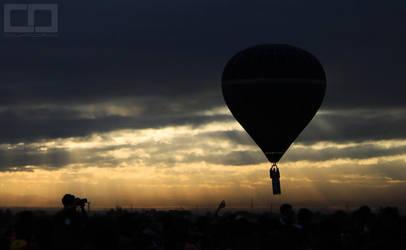 Balloon Flight at Sunrise by countocram