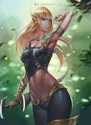 Blonde Archer by Unfairr