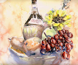 still life with grapes by Just-a-Witness
