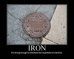 Motivational Poster - 'Iron' by PlasmaFire3000