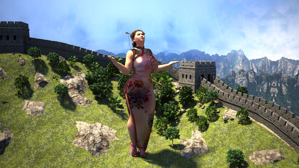 The Goddess of the great wall by Big-ELSA