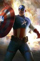 Captain America by megurobonin