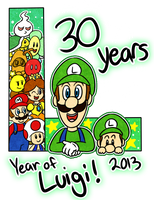Year of Luigi by Candy-Swirl