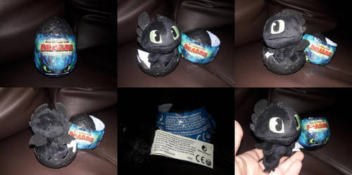 2019 HTTYD Hatching Baby Toothless Plush by PokeLoveroftheWorld