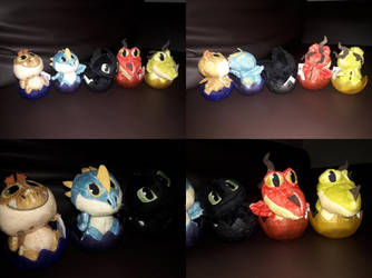 2019 All HTTYD Hatching Baby Dragons Plushies by PokeLoveroftheWorld