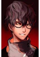 Persona 5 Protagonis by Aquashe