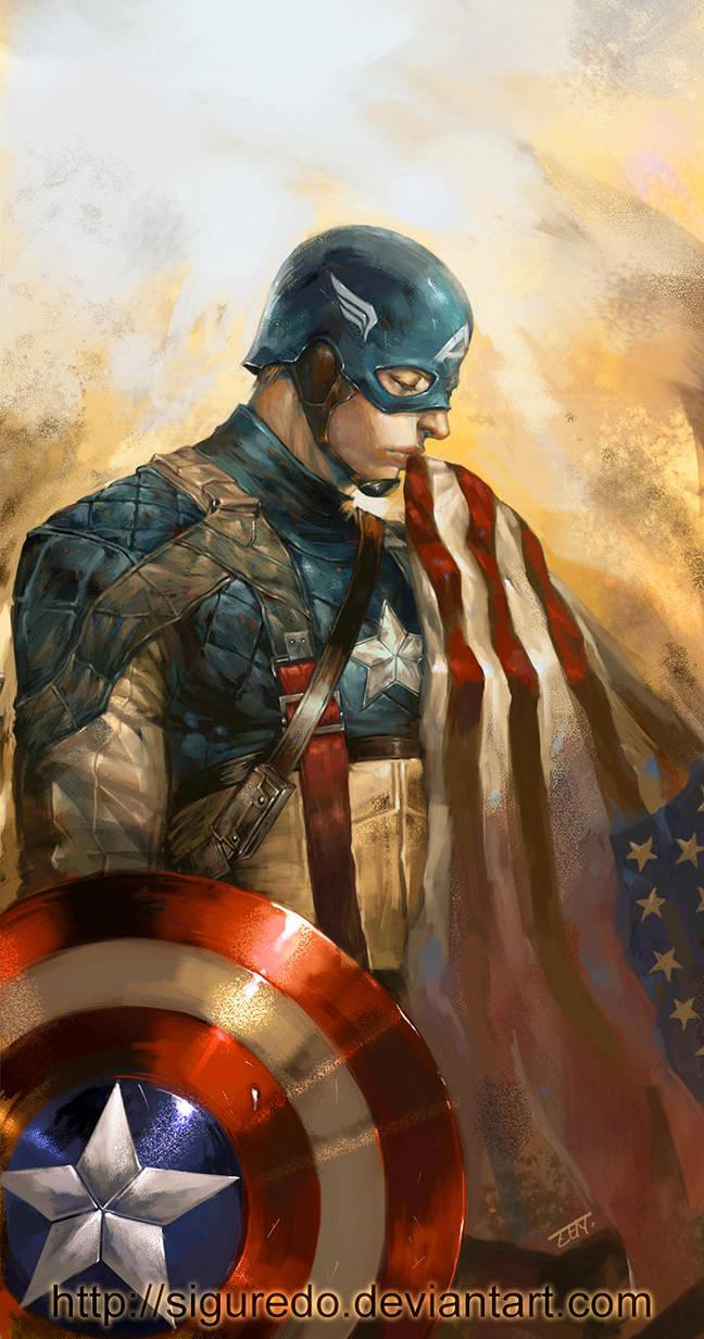 Captain America by Zen by siguredo