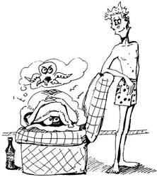 Farin and Bela cartoon by krysyonysh