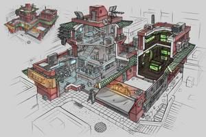 Cyberpunk Shop interior by ortsmor