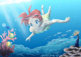 Ahiru in Summer by blueberryhope