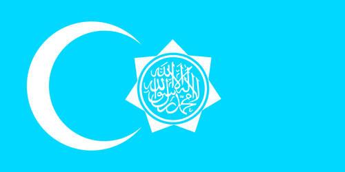 Alt Flag - The Republic of Uyghuristan by AlienSquid