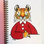 Artsy Tiger by kinachuku