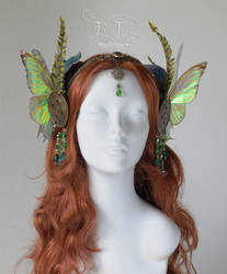 Absinthe Fairy / Green Fairy headdress by FaeryAzarelle