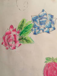 2 pastel colored flowers by whiteseal13
