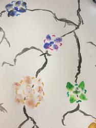 Watercolor flowers by whiteseal13