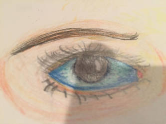 Eye colored pencil drawing by whiteseal13