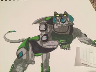 Green lion voltron by whiteseal13