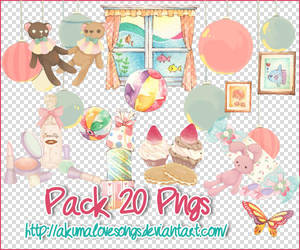 Pack 20 pngs by akumaLoveSongs
