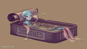 Taking a bath by MoonDeL