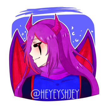 CrimsonMoonCute - Commission by heyeyshjey
