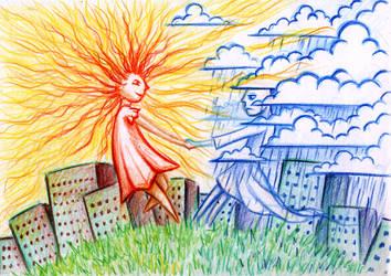 The friendship of Sun and Rain by SaintHeiser