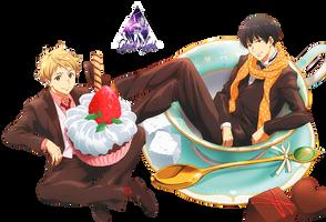 Hiroomi y Akihito|Kyoukai No Kanata Render #3 by celestialwizzard