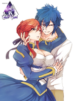 Erza y Jellal Fairy Tail Render by celestialwizzard