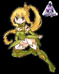 Lucy Heartfilia Chibi|Fairy Tail Render by celestialwizzard