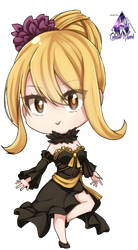 Lucy Heartfilia Chibi|Fairy Tail Render #2 by celestialwizzard