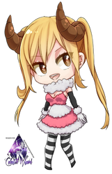 Lucy Heartfilia Chibi|Fairy Tail Render #3 by celestialwizzard