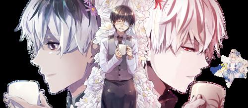 Kaneki Ken y Sasaki Haise|Tokyo Ghoul: re Render by celestialwizzard