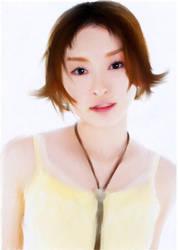 Yellow over white tank top by Kazu-sama