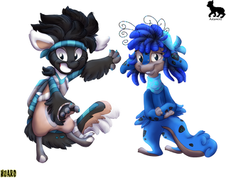 Schnabel and Flox by Adamiro