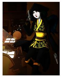 Gunslinger Geisha by LoneKakapo
