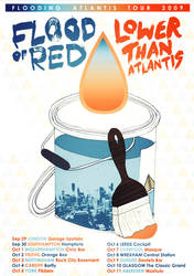 Flood of Red Tour Poster by ZzapFinito